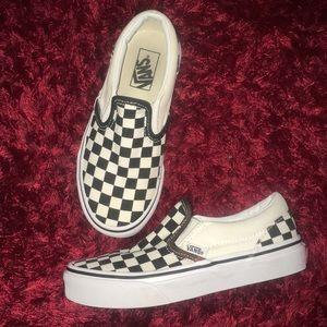 Vans Kids Checkered Slip On Vans